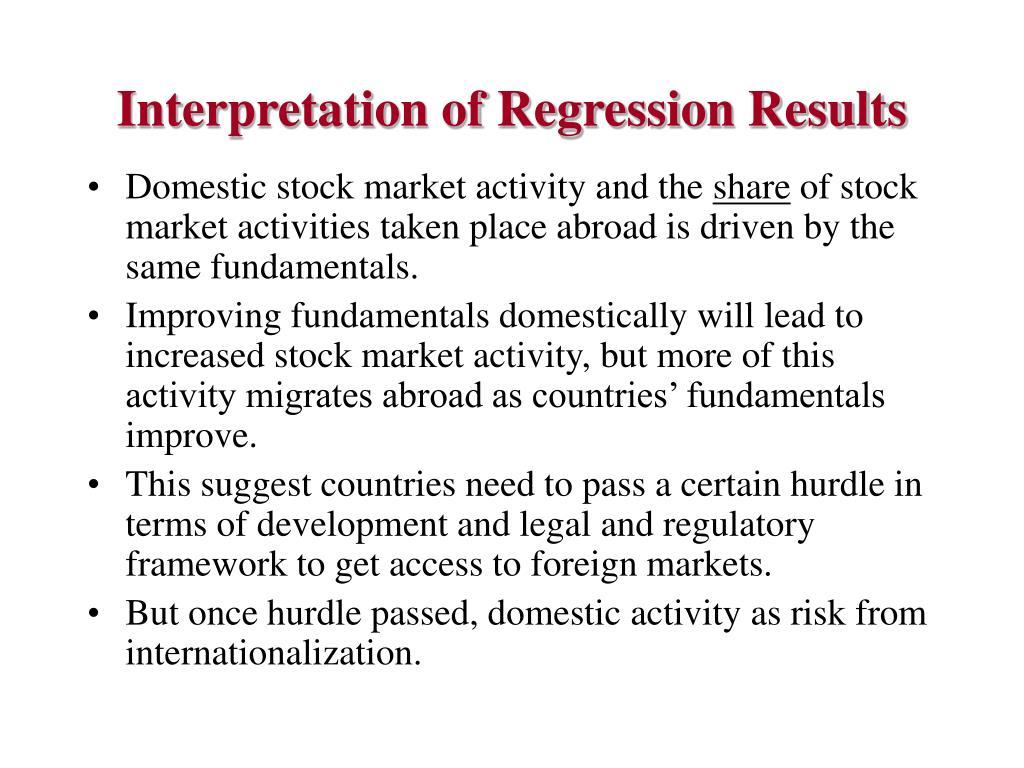 Interpretation of Regression Results