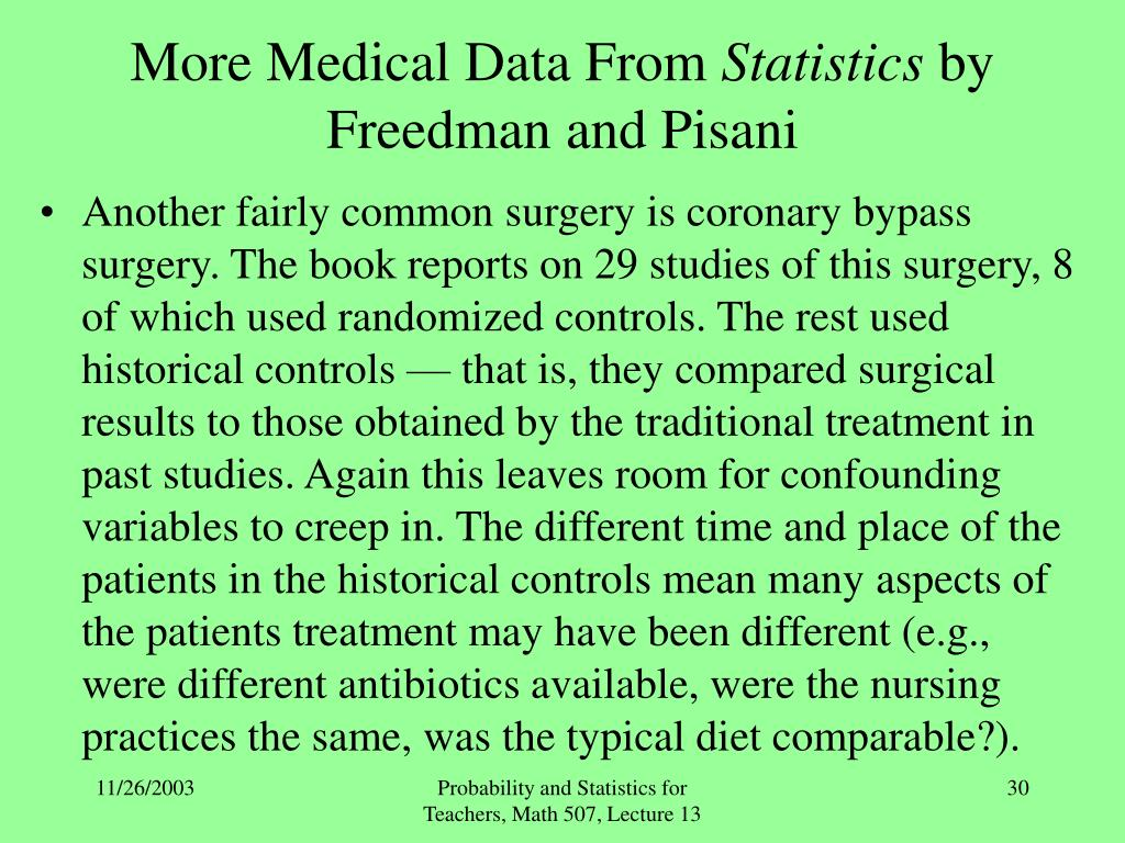 More Medical Data From