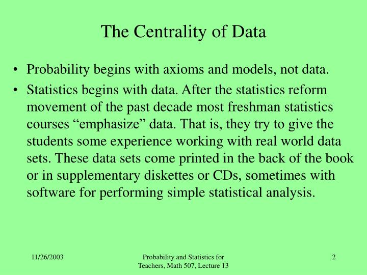 The centrality of data l.jpg