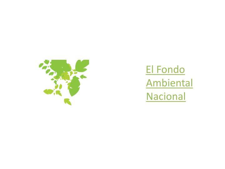 El Fondo Ambiental Nacional