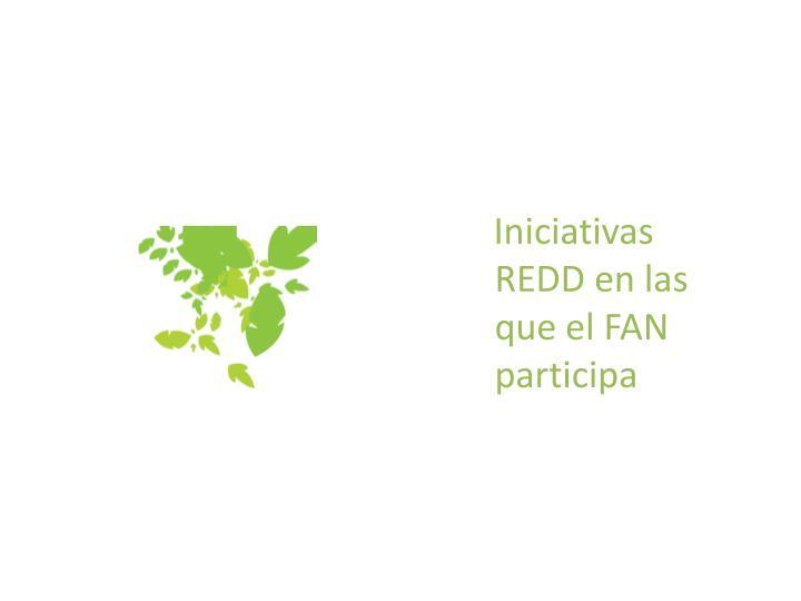 Iniciativas REDD en las que el FAN participa