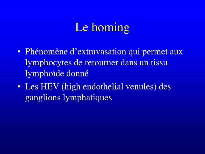 Le homing