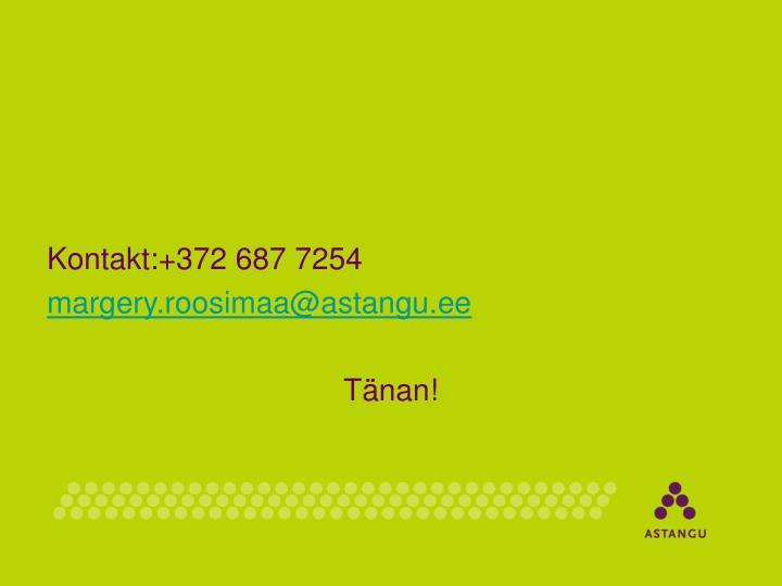 Kontakt:+372687 7254