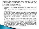taux de change ppa et taux de change nominal