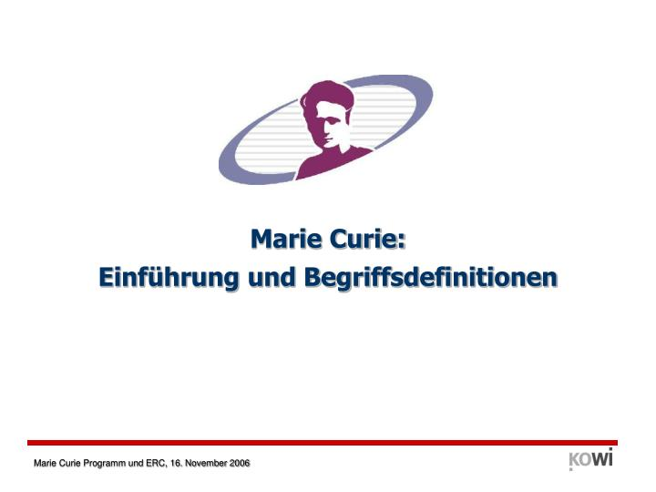 Marie Curie:
