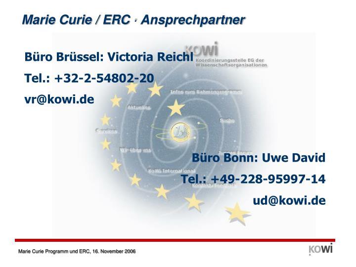 Marie Curie / ERC