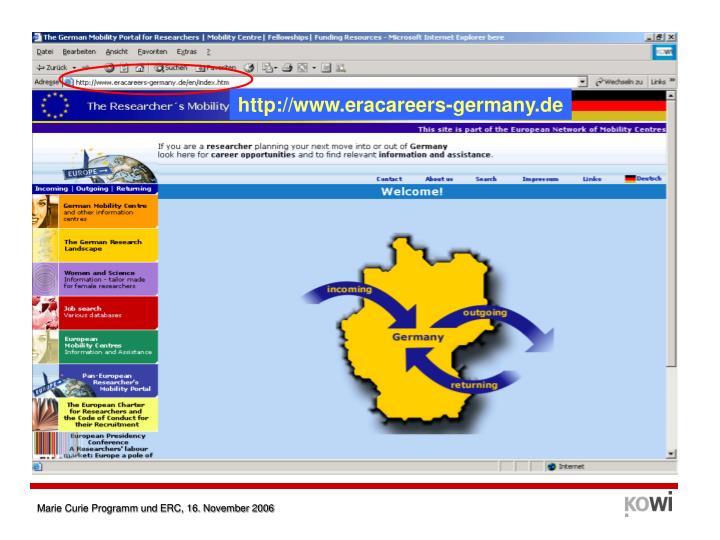 http://www.eracareers-germany.de