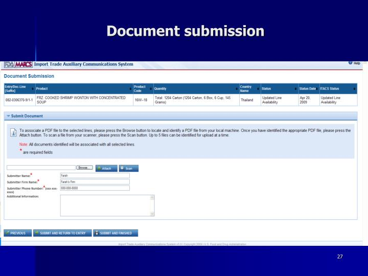 Document submission