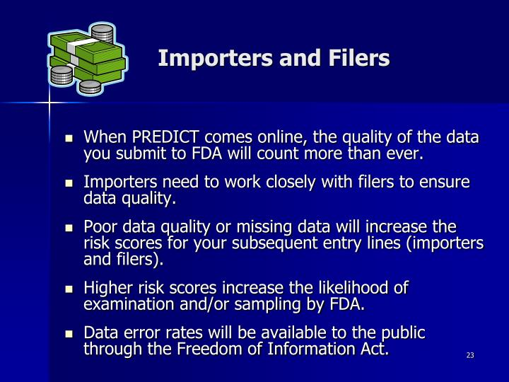 Importers and Filers