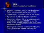 mid customs manufacturer identification