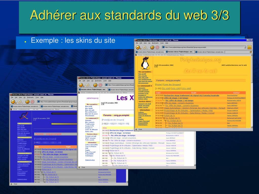 Adhérer aux standards du web 3/3