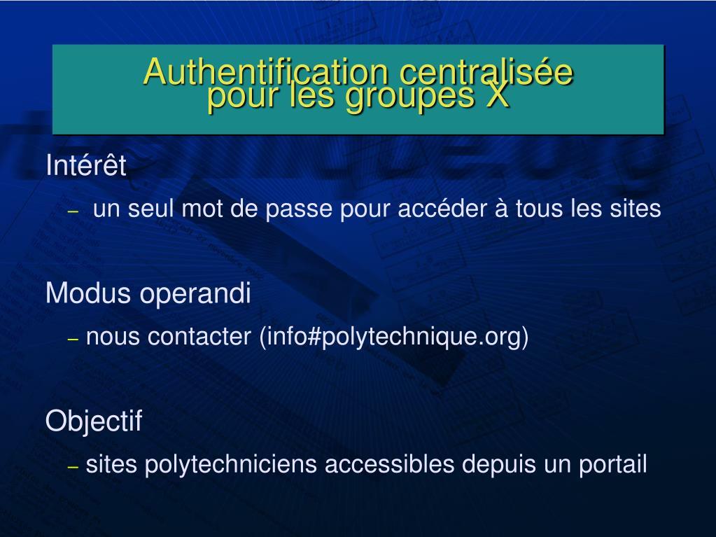 Authentification centralisée