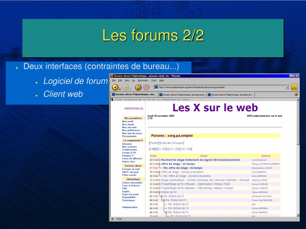 Les forums 2/2