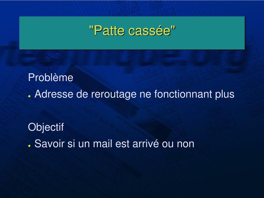 """""""Patte cassée"""""""