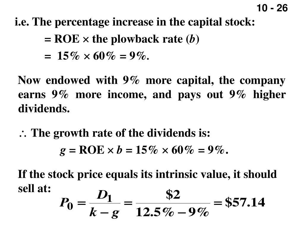 i.e. The percentage increase in the capital stock: