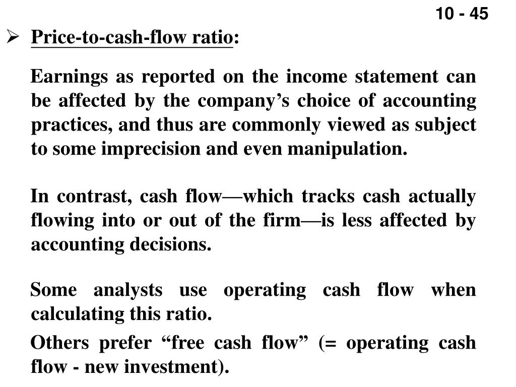Price-to-cash-flow ratio