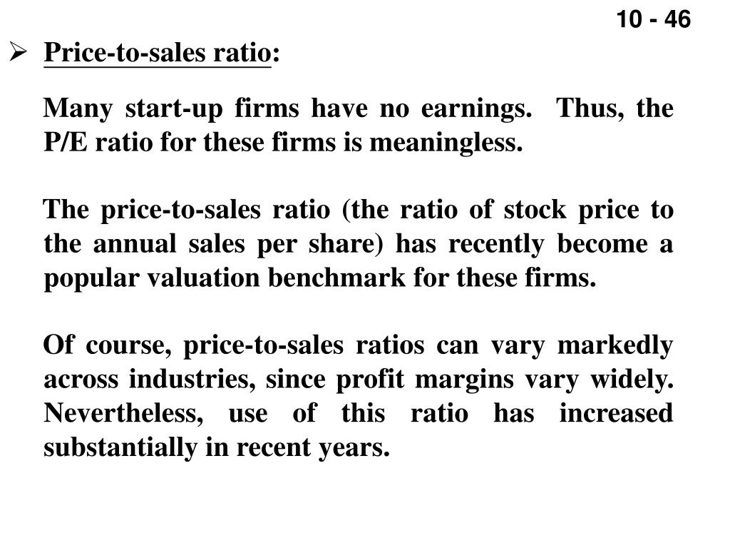 Price-to-sales ratio