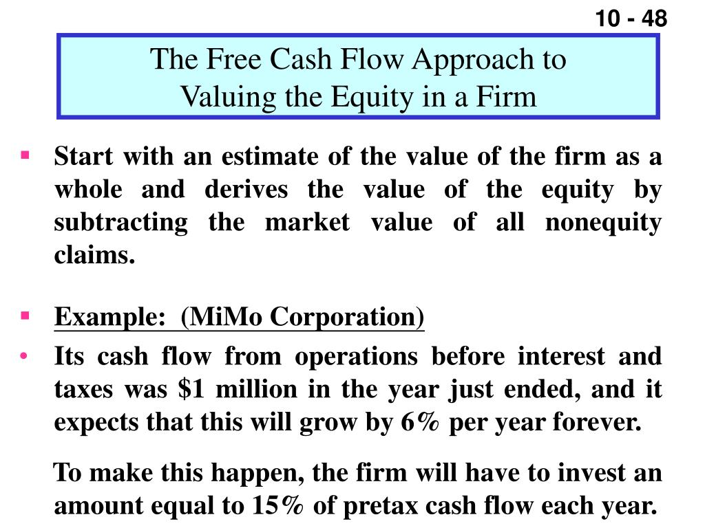 The Free Cash Flow Approach to
