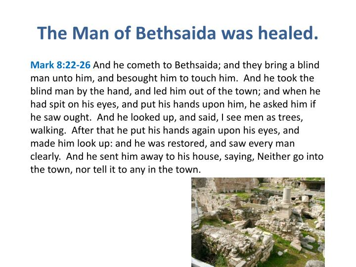 The Man of Bethsaida was healed.