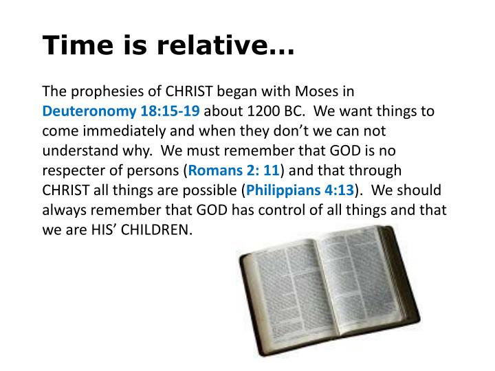Time is relative…