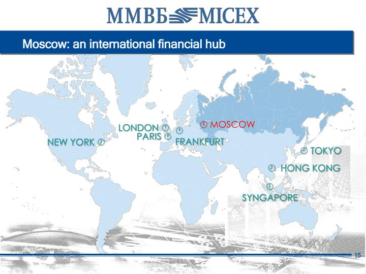 Moscow: an international financial hub