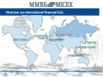 moscow an international financial hub