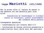 legge mariotti 431 1968