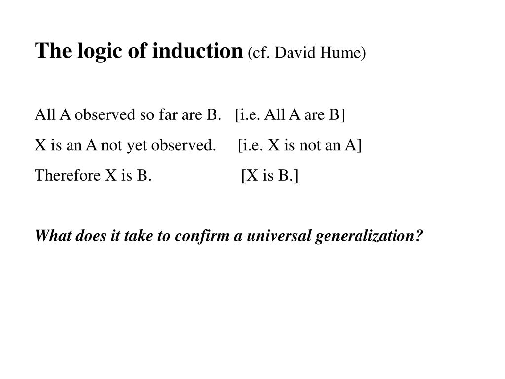 The logic of induction