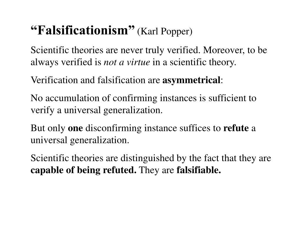 """""""Falsificationism"""""""