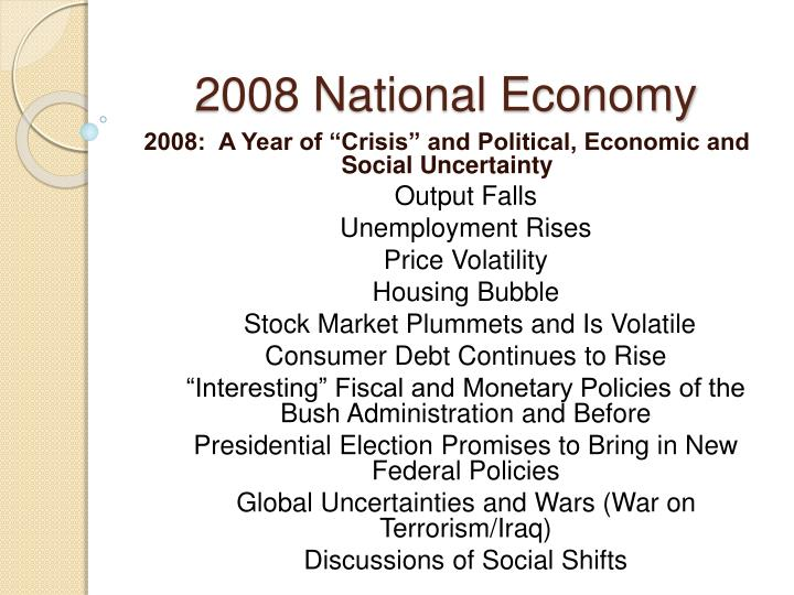 2008 National Economy