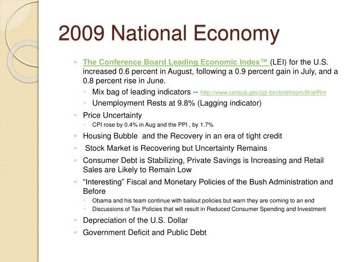 2009 National Economy