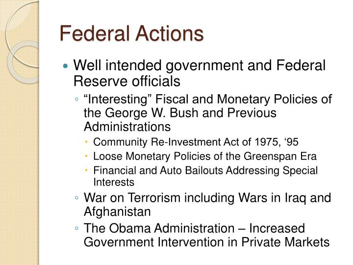Federal Actions