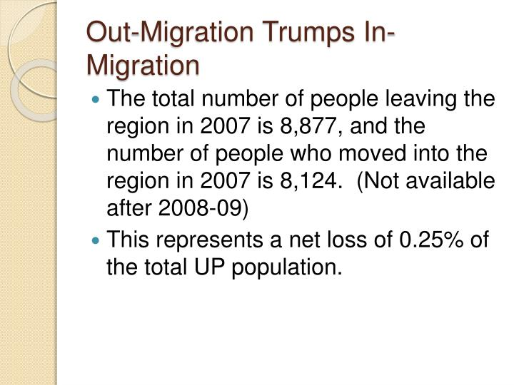 Out-Migration Trumps In-Migration