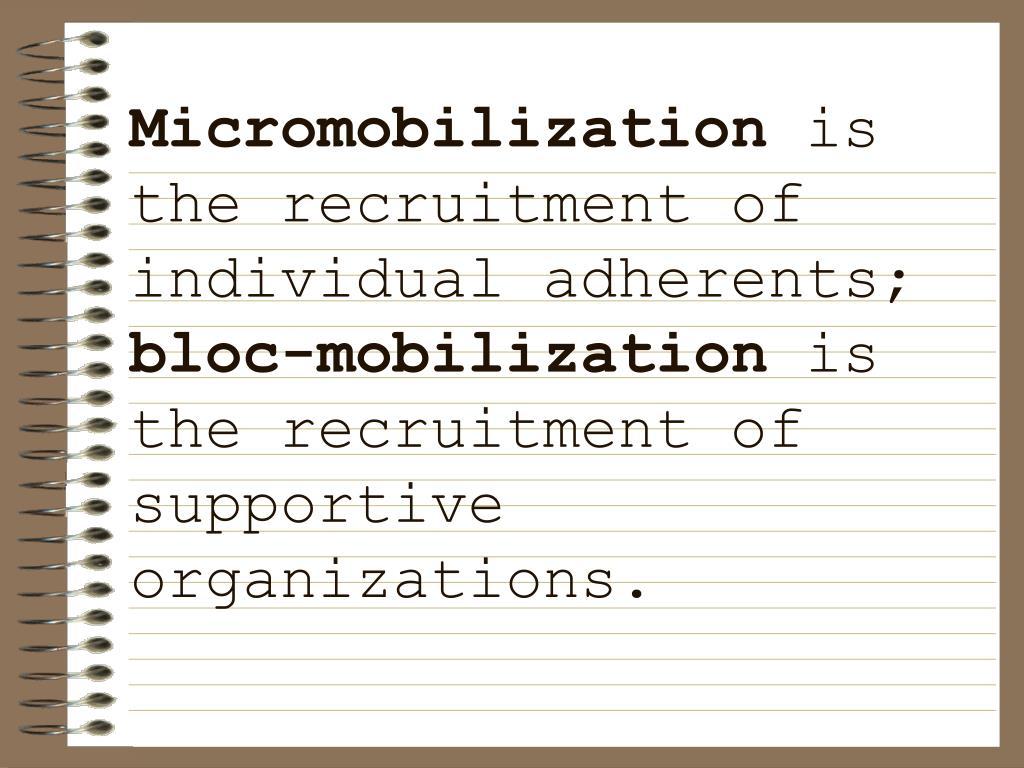 Micromobilization
