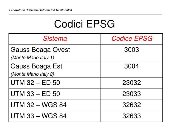 Codici EPSG