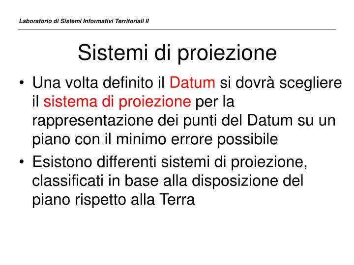 Sistemi di proiezione