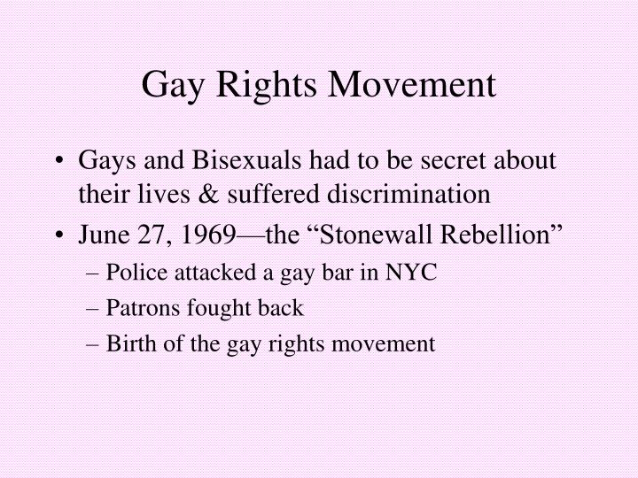 Gay Rights Movement