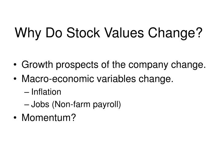 Why Do Stock Values Change?