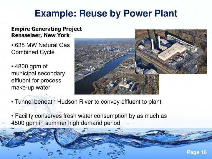 Example: Reuse by Power Plant