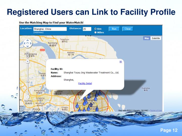 Registered Users can Link to Facility Profile
