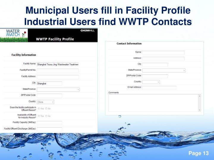 Municipal Users fill in