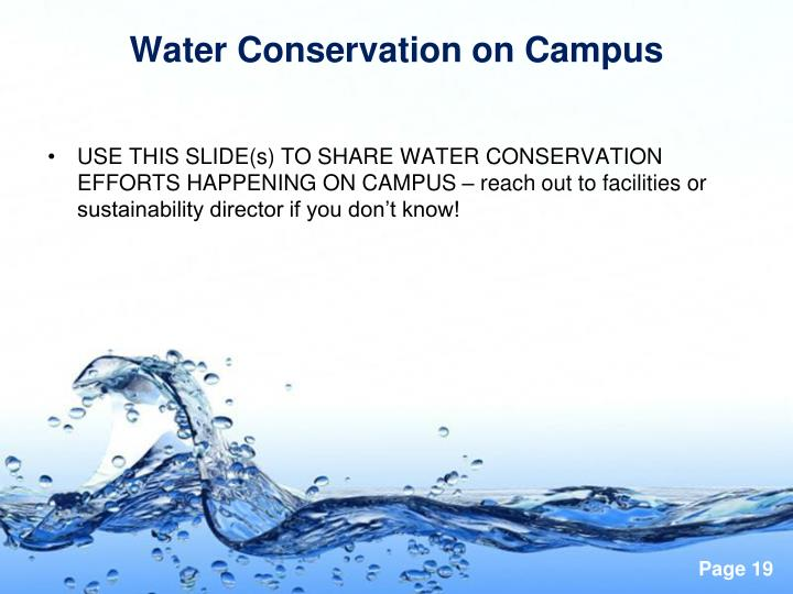 Water Conservation on Campus