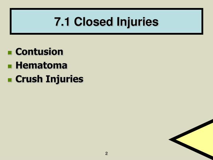 7.1 Closed Injuries
