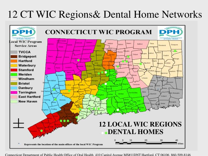 12 CT WIC Regions& Dental Home Networks