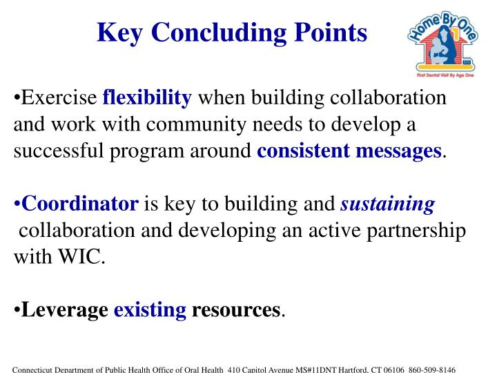 Key Concluding Points