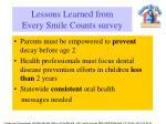lessons learned from every smile counts survey