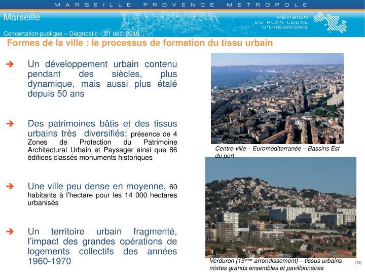 Formes de la ville : le processus de formation du tissu urbain