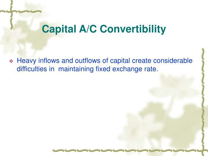 Capital A/C Convertibility