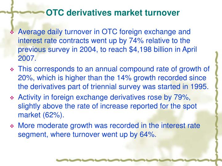 OTC derivatives market turnover