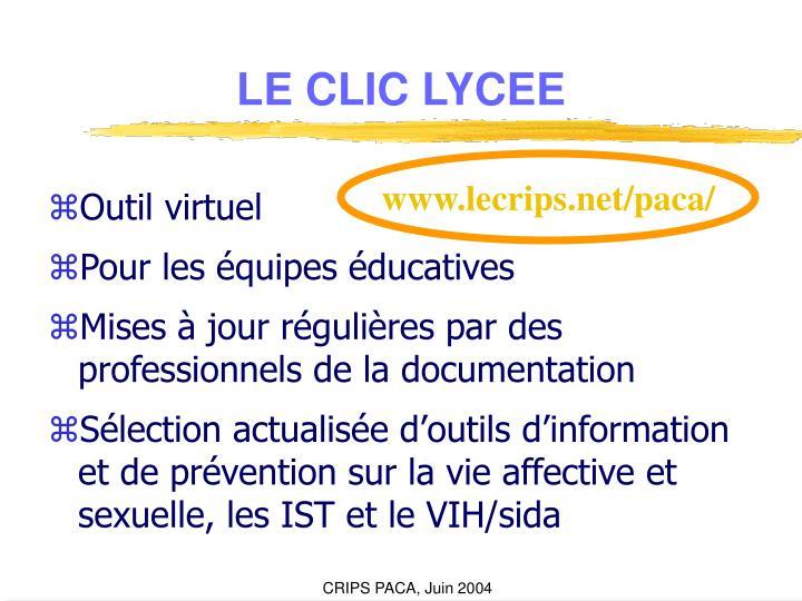 LE CLIC LYCEE